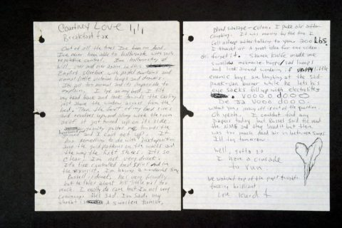 """""""Non provo più emozioni"""": la lettera che Kurt Cobain scrisse prima di suicidarsi"""