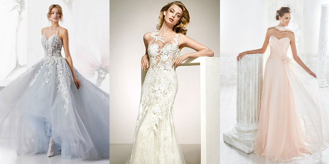 Gli abiti da sposa 2018 hanno i colori (pastello) dell'arcobaleno