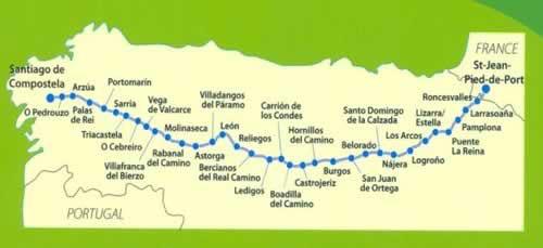 camino de santiago lunghezza