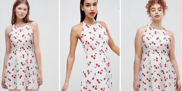 Stesso vestito, diversa taglia della modella: la sfida di Asos