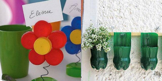 Riciclo creativo bottiglie di plastica: 4 fantastici tutorial