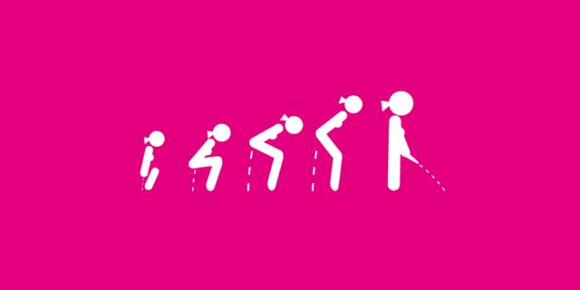 Pì-kono: ora anche le donne fanno la pipì in piedi