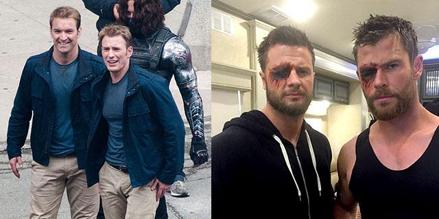 21 foto di Avengers con le loro controfigure che li fanno sembrare meno eroi