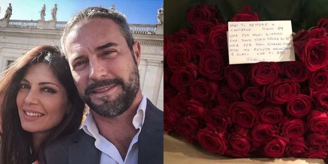 Flavio Montrucchio: tutto l'amore (e le dediche) per Alessia Mancini