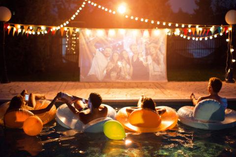 Cinema in giardino a ferragosto