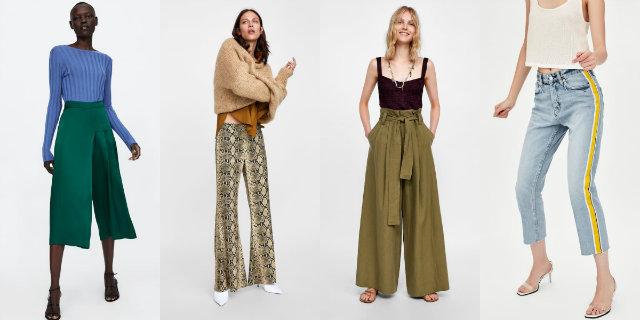 pantaloni Zara autunno/inverno 2018/19