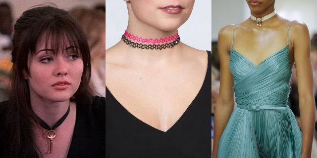 Choker mania: tendenze e modelli della collana che ha segnato gli anni '90