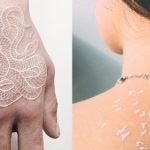 Ispirazione tattoo: la grazia dei tatuaggi bianchi e 8 idee cui ispirarsi