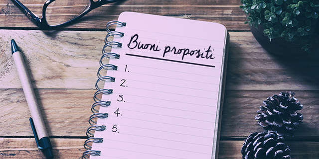 Propositi per il nuovo anno: la lista dei soli che ha senso fare