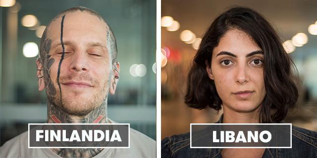 """La bellezza della gente che si incontra in aeroporto di """"100 Faces 100 Countries"""""""