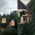 Le meraviglia delle case con vista immerse nella foresta italiana