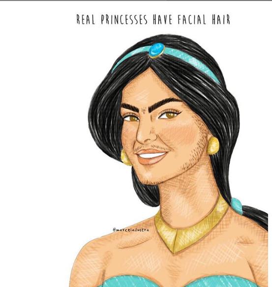 """""""Le vere principesse hanno l'acne, i peli, le cicatrici, e sono meravigliose così"""""""