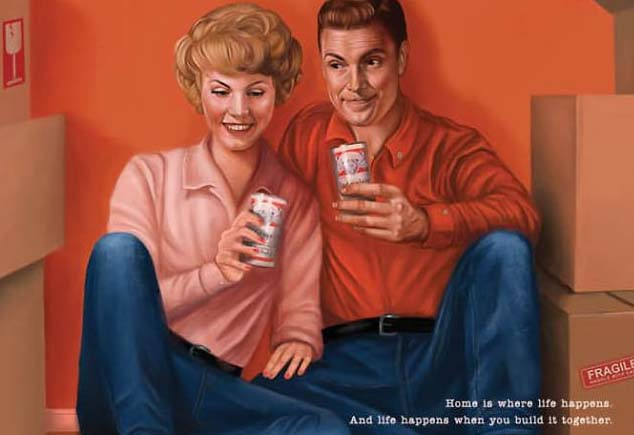 3 pubblicità sessiste degli anni 50-60 rifatte dalla Budweiser