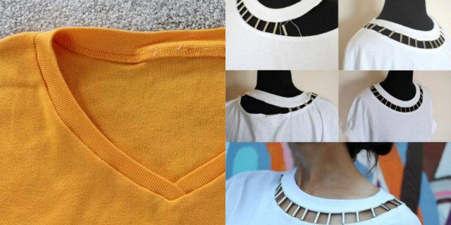 come modificare il collo di una maglietta