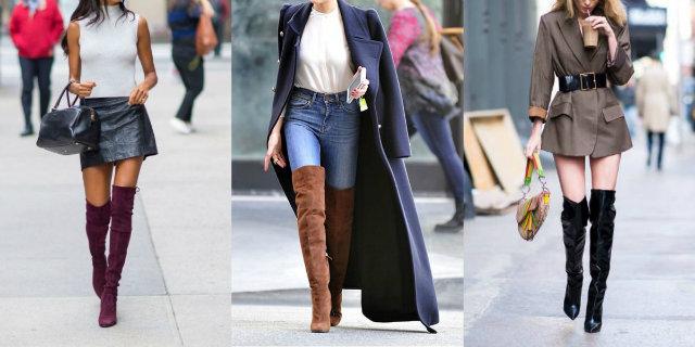 mini dress | Minigonne, Stivali alti di coscia e Stivali alti