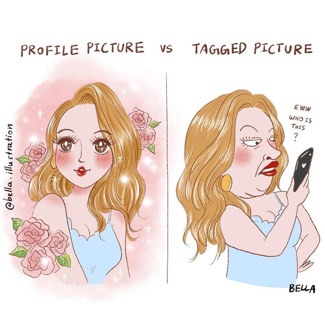 16 illustrazioni di situazioni tipiche e divertenti in cui ogni donna si ritroverà