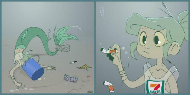 13 illustrazioni realistiche de La Sirenetta se fosse stata scritta oggi