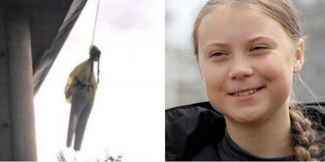 L'orrore del fantoccio impiccato di Greta Thunberg e di chi ucciderebbe una ragazzina