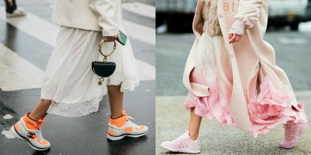 Vestiti e scarpe da ginnastica: abbinare le sneakers Roba