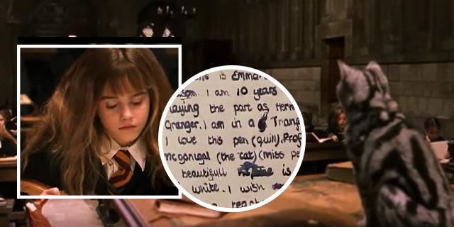 Quello che Emma Watson scrisse davvero mentre girava questa scena di Harry Potter
