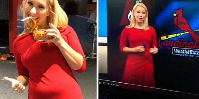La risposta della reporter a chi le consiglia abiti che nascondano la pancetta