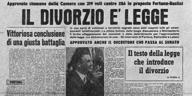 Divorzio in Italia, il ruolo della donna e il diritto di scegliere chi amare