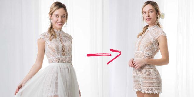 Abiti da sposa trasformabili, ovvero 2 vestiti in 1