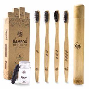 Greenzla Spazzolino di Bambù in Kit da Viaggio - Prodotto Eco Friendly