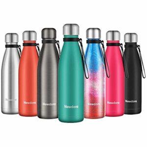 Newdora Bottiglia Acqua in Acciaio Inox 500ml - Borraccia Termica