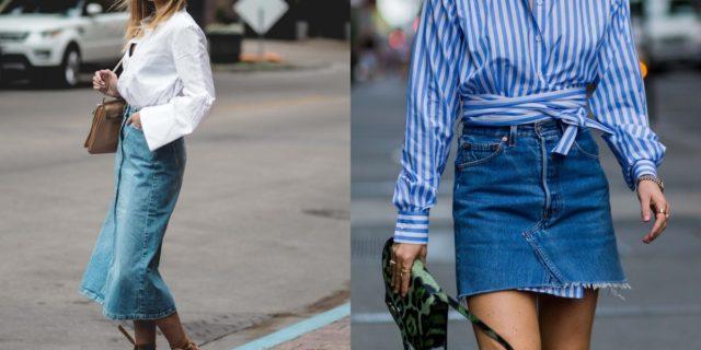 Il grande ritorno della gonna di jeans tra le tendenze moda 2020