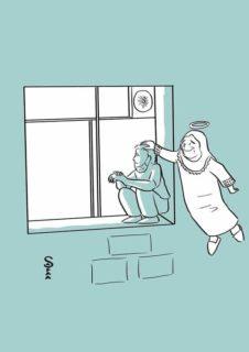 Ogni sera si arrampica alla finestra e veglia la madre malata di Covid: la storia di Jihad