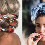 Come indossare un foulard nei capelli