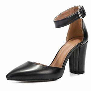 Scarpe a punta con tacco e cinturino in caviglia Liuruijia