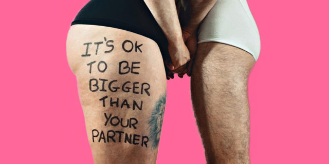 'È ok essere più grosse del tuo partner. Io sono molto più del peso sulla bilancia'
