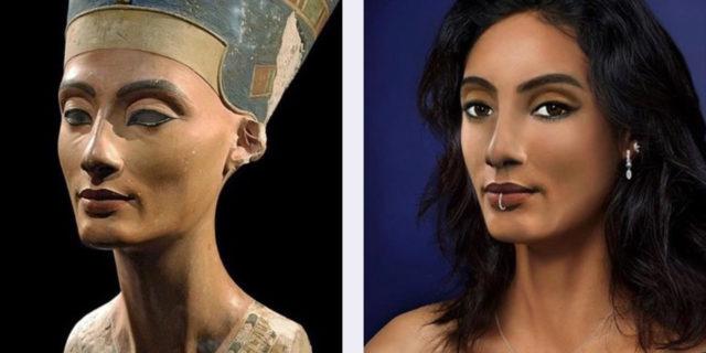 Come sarebbero Nefertiti e altre figure storiche se vivessero nel 2020
