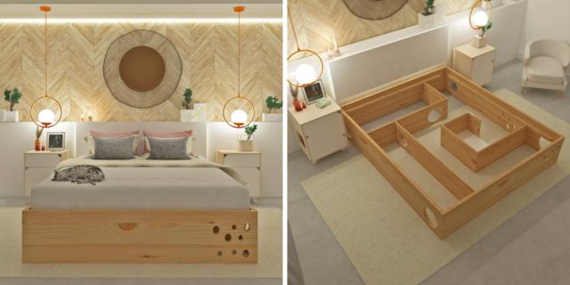 Il letto Gatrimonial e altri 8 mobili che piaceranno un sacco al vostro gatto