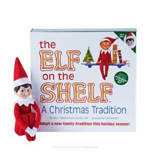 Elf on the Shelf: A Christmas Tradition | versione maschio con occhi azzurri e pelle chiara con Keepsake Box
