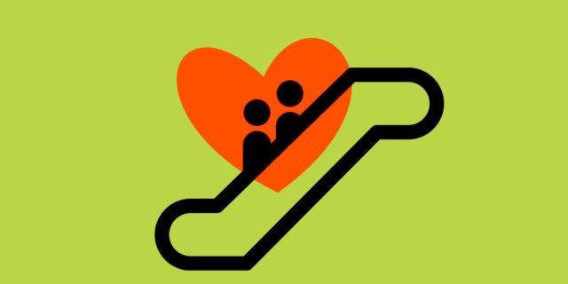 """Scala mobile relazionale, l'""""amore vero"""" non è per forza per sempre lineare"""