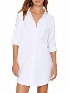 Auxo - Camicia Lunga bianca oversize