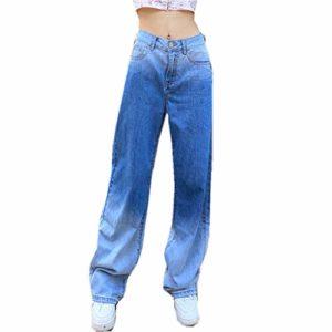 Loalirando - Jeans Donna a Vita Alta e Gamba Larga
