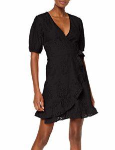 Amazon Find - Mini dress a portafoglio, nero