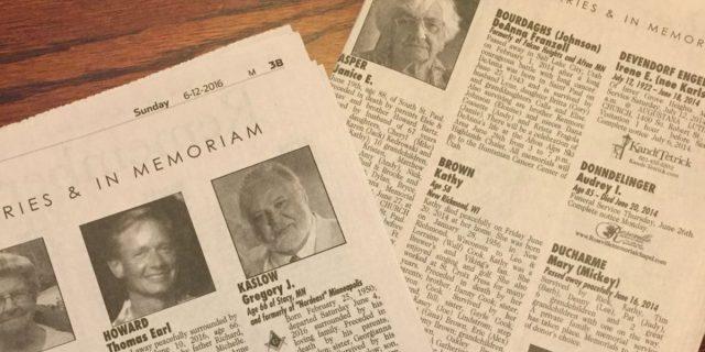 Perché i necrologi sui giornali sono più importanti di quanto si pensi