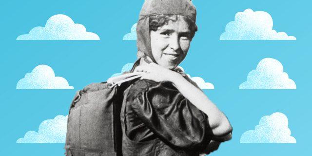 Georgia Broadwick, la prima ragazza con il paracadute