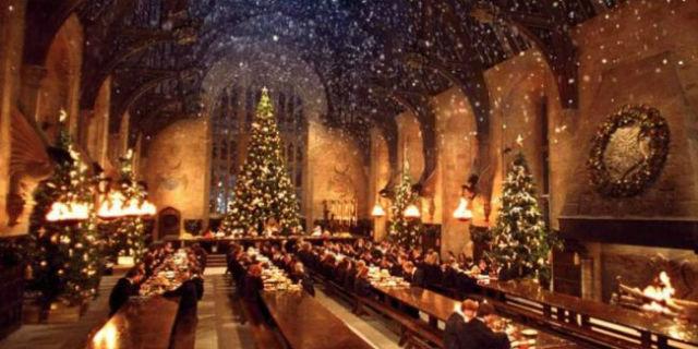 Harry Potter, Cena di Natale per tutti i Fan nella Sala Grande di Hogwarts