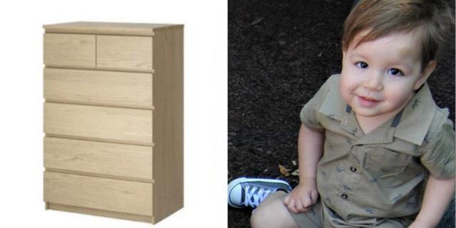 Ikea, maxi risarcimento alla famiglia del bimbo ucciso dalla sua cassettiera Malm
