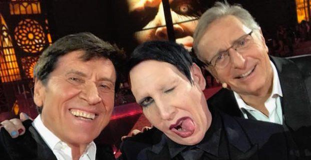 """Gli esorcisti contro Marilyn Manson ospite di Bonolis: """"Attenzione, è Satana"""""""