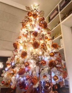 Lasciati ispirare dagli alberi di Natale e dalle decorazioni dei vip