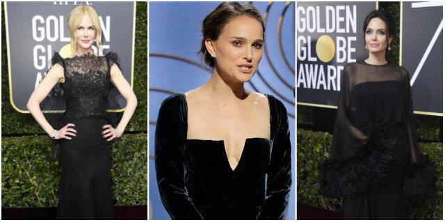 Golden Globe 2018, perché le star erano in nero e le parole di Natalie Portman