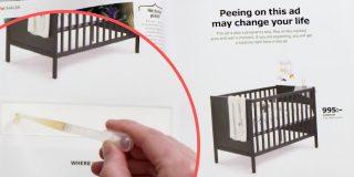 La trovata di Ikea: la pubblicità è un test di gravidanza su cui fare la pipì