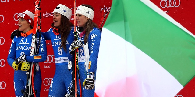 Tripletta Goggia, Brignone e Fanchini: le signore dello sci scrivono la storia